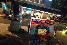Unjuk Rasa Unik di Jalan Suroto Jogja, Pakai Media Lukisan hingga