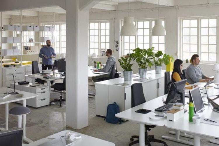 Ilustrasi ruang kerja