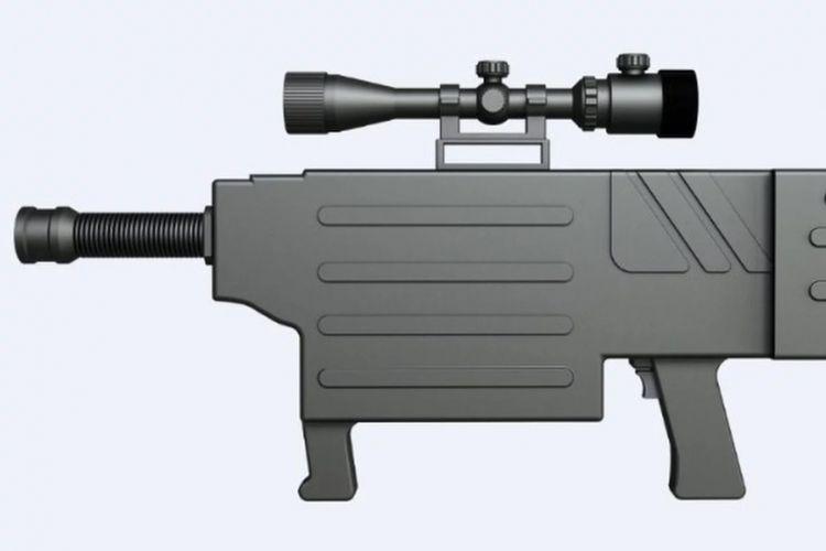 Desain senapan laser Star Wars yang dikembangkan China yang mampu melepaskan tembakan laser tak kasatmata.