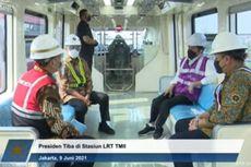 Jajal LRT Jabodebek Buatan Indonesia, Jokowi: Halus, Tanpa Suara, Nyaman Sekali