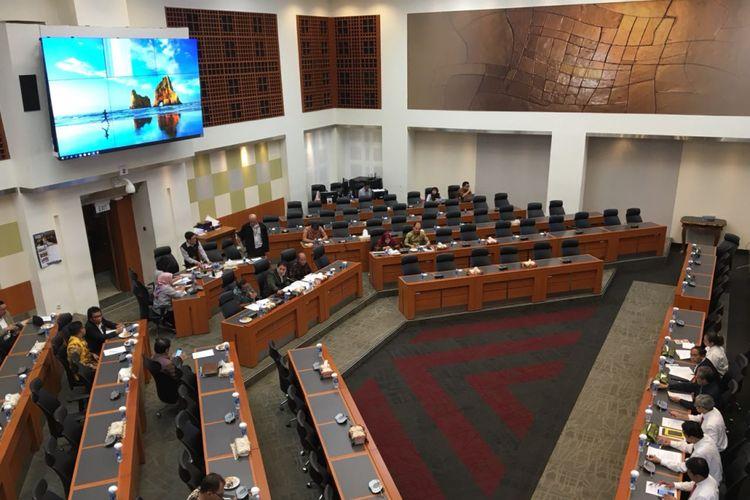 Suasana di ruang rapat Badan Anggaran DPR RI, Senin (23/7/2018).
