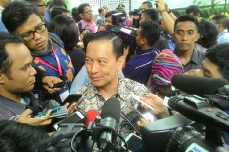 Menteri Perdagangan Thomas Lembong di Kantor Badan Koordinasi Penanaman Modal (BKPM), Jakarta, Senin (11/1/2016)