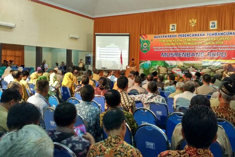 Pemerintah Kabupaten Trenggalek menggelar Musyawarah Perencanaan Pembangunan (Musrenbang), Selasa (20/3/2018).