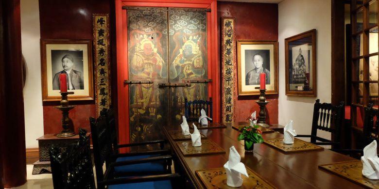 Salah satu ruang makan di Hotel Tugu Malang.