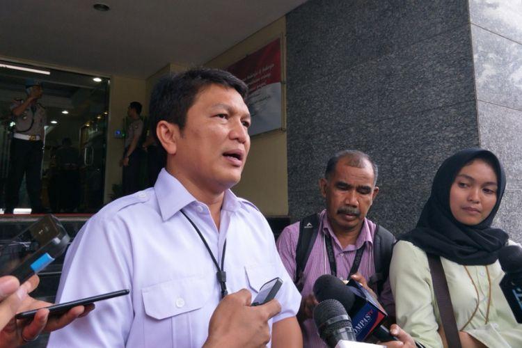 Direktur Reserse Kriminal Umum Kombes Nico Afinta di Mapolda Metro Jaya, Rabu (21/3/2018).