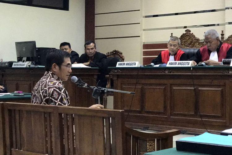 Hamdan Zulfa bersaksi di persidangan Dahlan Iskan, Jumat (24/3/2017)