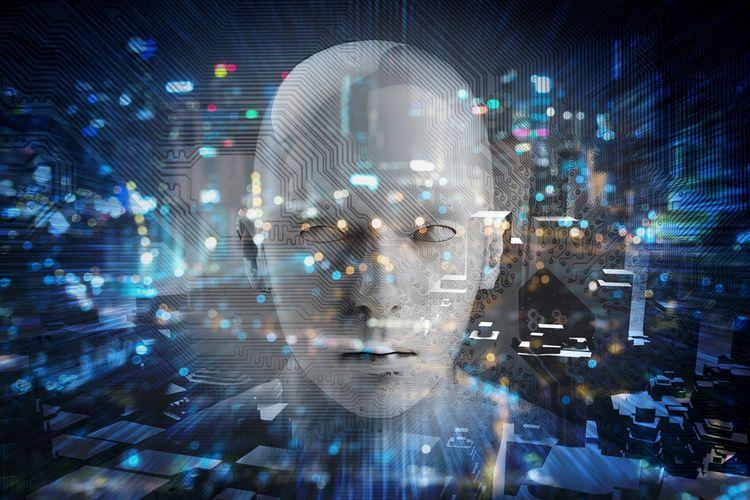 Ilustrasi artificial intelligence (AI).