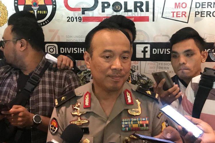 Kepala Biro Penerangan Masyarakat Divisi Humas Polri Brigjen (Pol) Dedi Prasetyo saat ditemui di Hotel Grandkemang, Jakarta Selatan, Rabu (11/9/2019).