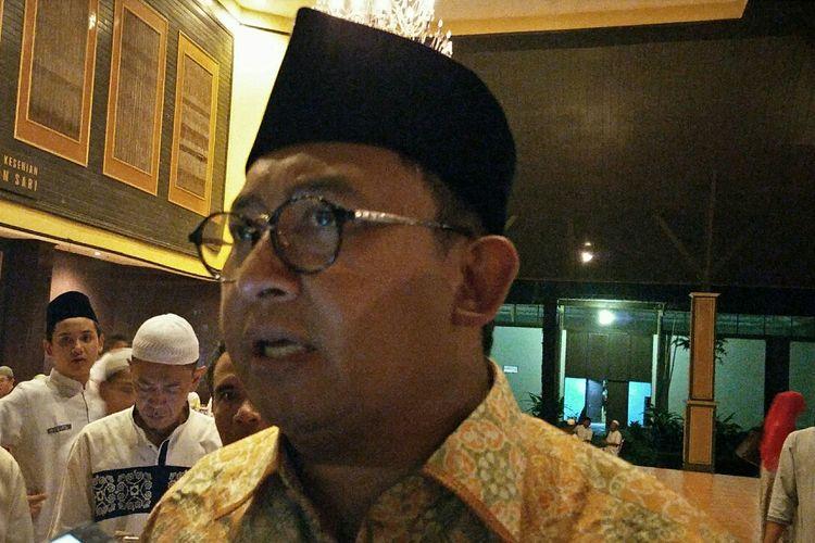 Wakil Ketua Umum DPP Partai Gerindra, Fadli Zon didi Gedung Pandan Sari, Jalan Pusdika, Harjamukti, Cimanggis, Kota Depok, Jawa Barat pada Jumat (10/5/2019).