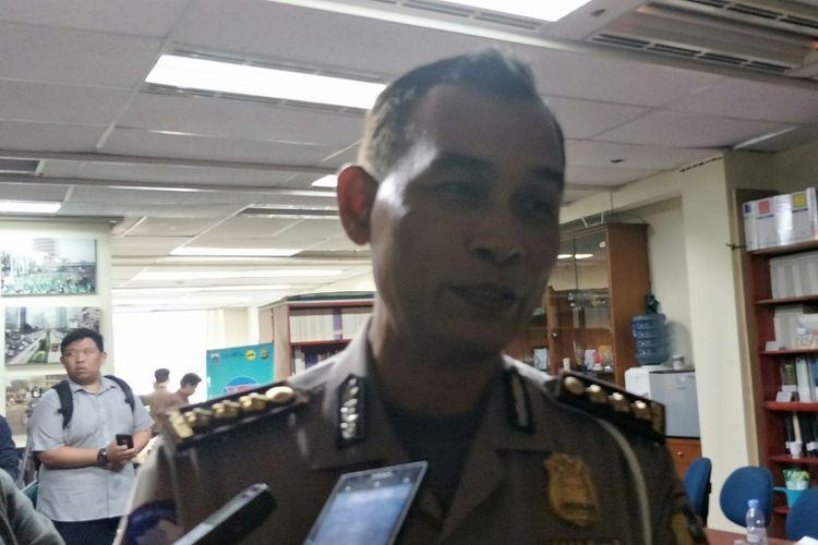 Kasubdit Pengawalan dan Patroli Jalan Raya Korlantas Polri Kombes Pol Bambang Sentot Widodo di kawasan Sarinah, Jakarta Pusat, Selasa (14/8/2018).