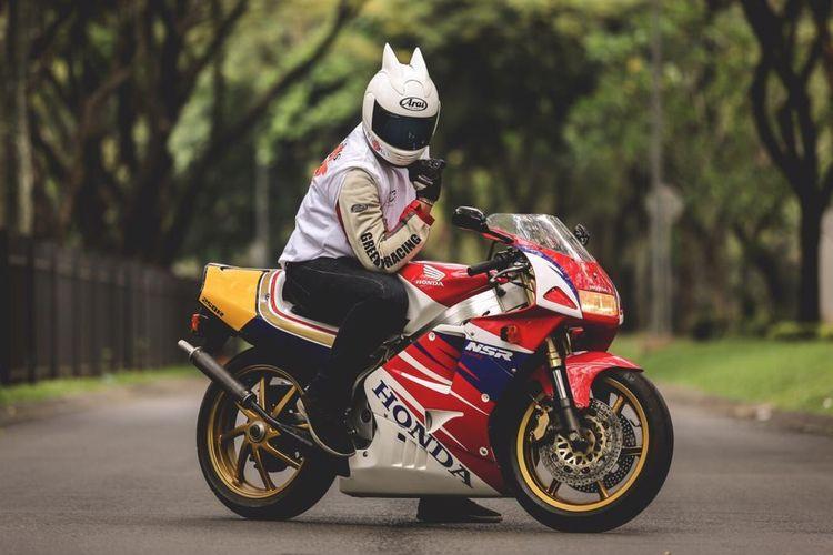 Honda NSR250R milik Gany Rahman.