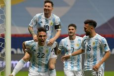 Argentina Vs Kolombia Babak 1 - Messi Merepotkan, Lautaro 1 Gol, Albiceleste Unggul