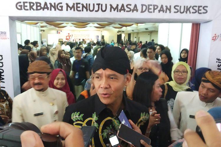 Gubernur Jawa Tengah, Ganjar Pranowo di Solo, Jawa Tengah, Kamis (5/12/2019).