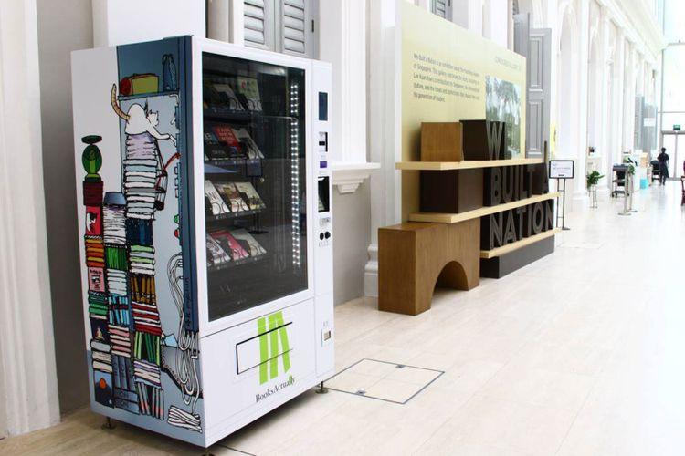 Vending Machine di Florida, AS menjual buku bacaan untuk siswa