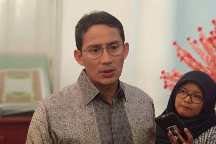 Wakil Gubernur DKI Jakarta Sandiaga Uno di Balai Kota DKI Jakarta, Rabu (21/3/2018).