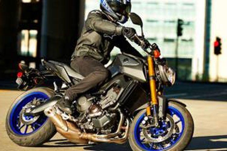 Yamaha MT-09 yang dijual di Eropa. Penjualan Yamaha tahun lalu turun, tapi keuntungan naik.