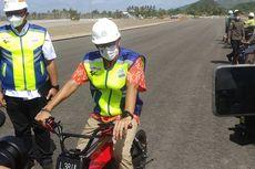 Kendarai Sepeda Listrik, Menteri Sandiaga Uno Tinjau Pembangunan Sirkuit MotoGP Mandalika