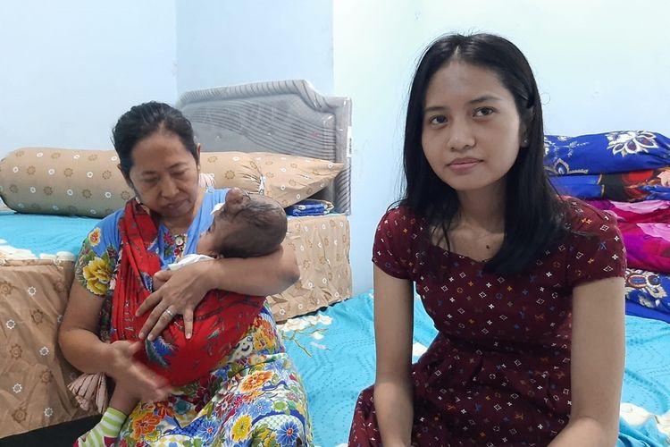 Bayi Pandu bersama ibunya tinggal di Rusun Gunungsari Surabaya sejak 3 Desember 2019.