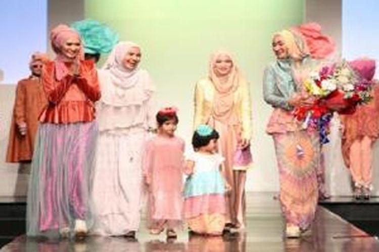 Para desainer busana muslim di Jakarta Islamic Fashion Week 2013