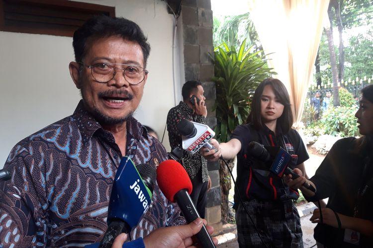 Menteri Pertanian Syahrul Yasin Limpo di Jakarta, Rabu (25/12/2019).
