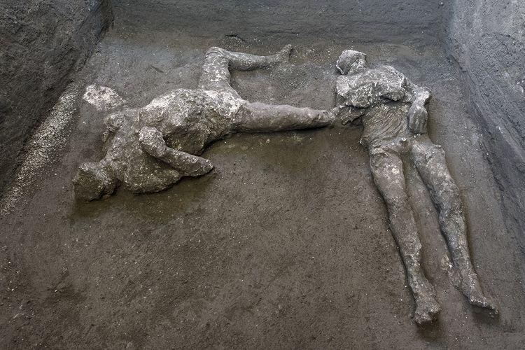 2 Jasad Penduduk Pompeii Ditemukan, Diyakini Sebagai Tuan dan Budaknya Halaman all - Kompas.com
