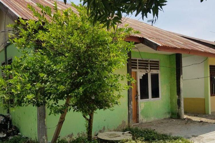Rumah kontrakan tempat penganiayaan terhadap Nova terjadi.