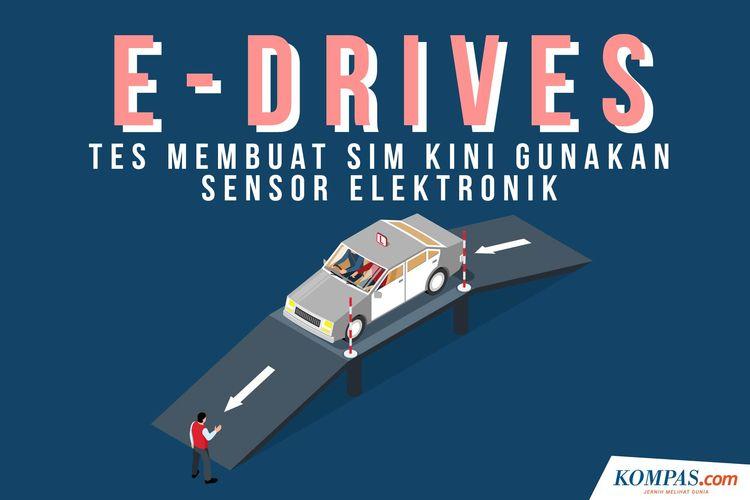 E-drive, pembuatan uji SIM kini menggunakan sensor elektronik