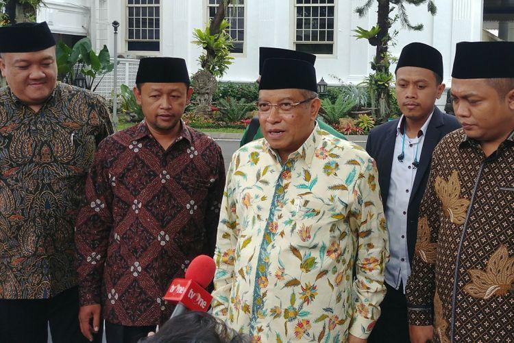 Ketua Umum PBNU Said Aqil Siradj di Istana, Rabu (21/3/2018).