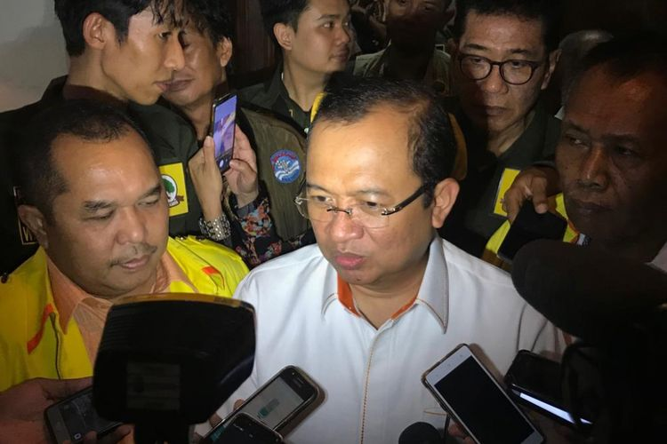 Sekretaris Jenderal Partai Berkarya, Priyo Budi Santoso, di Warung Daun Cikini, Jakarta Pusat, Jumat (28/9/2018).