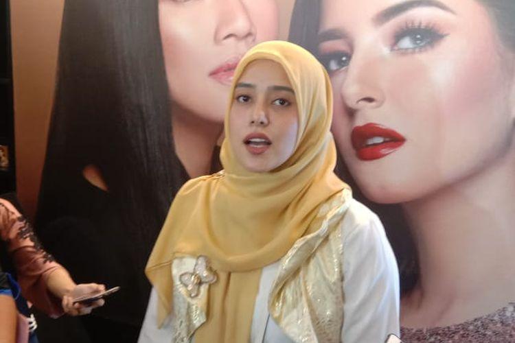 Fairuz A Rafiq di The Tribrata, Dharmawangsa Raya, Kebayoran Baru, Jakarta Selatan, Kamis (29/8/2019).