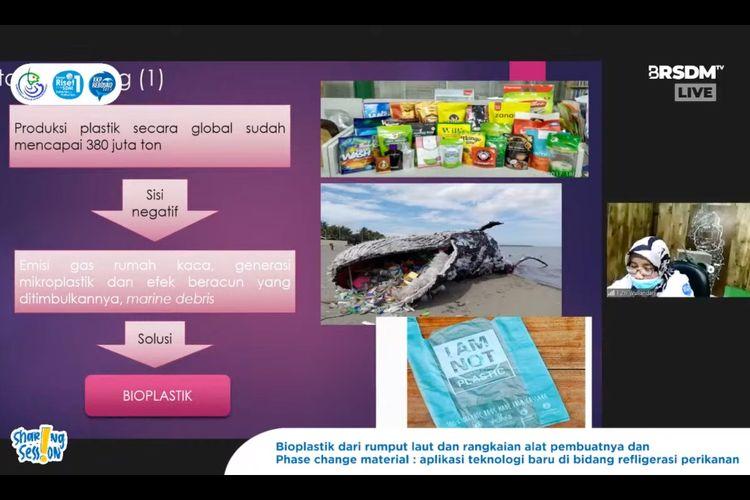 Peneliti LRMPHP Putri Wullandari saat menghadiri kegiatan ?Sharing Session BRSDM,? yang disiarkan secara langsung melalui kanal YouTube BRSDM, Rabu (7/7/2021).