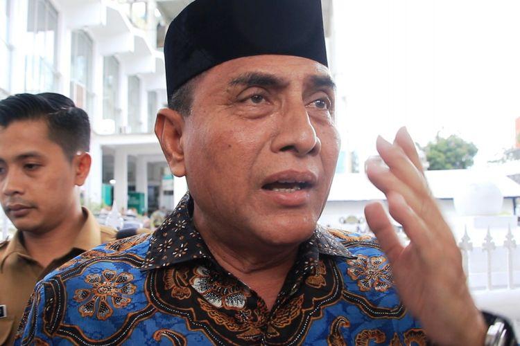 Gubernur Sumatera Utara Edy Rahmayadi menegaskan, tidak ada pelarangan atau penghalangan terhadap wartawan dalam melakukan tugas jurnalistiknya di lingkungan kantor gubernur, Rabu (16/1/2019)