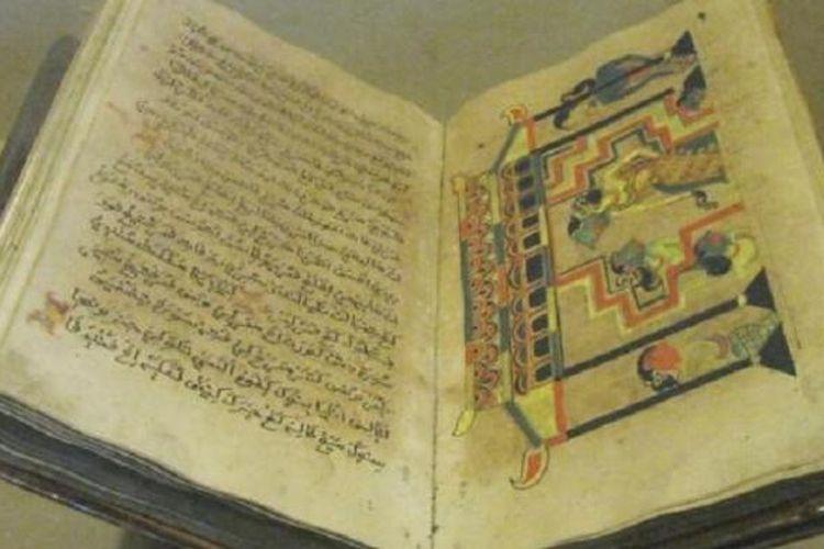 Naskah kuno berisi ajaran Islam koleksi Museum Sonobudoyo. Teks itu unik karena disertai ilustrasi sementara seni rupa saat itu masih sangat tabu dalam islam.
