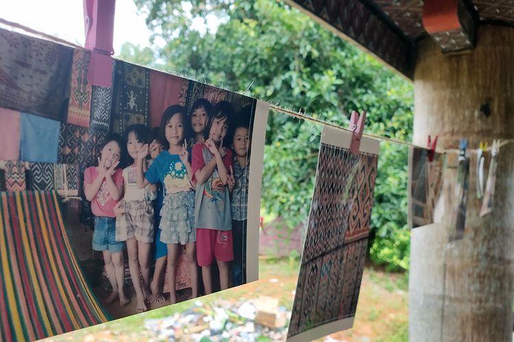 Hasil foto para penenun di Desa Sadan, Toraja