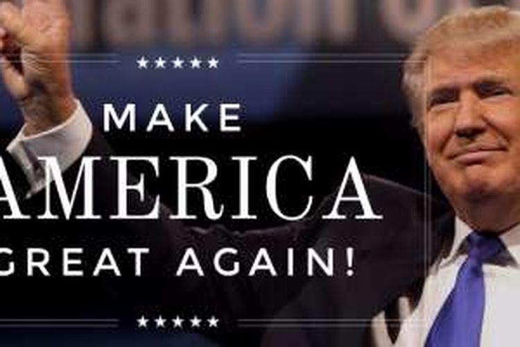 Materi kampanye Donald Trump.