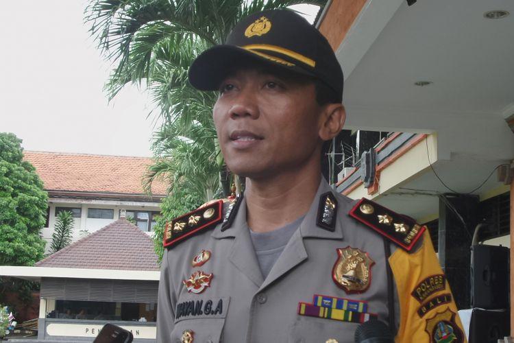 Kapolres Karangasem, AKBP I Wayan Gde Ardana saat ditemui di Mapolda Bali, Denpasar, Senin (11/12/2017).