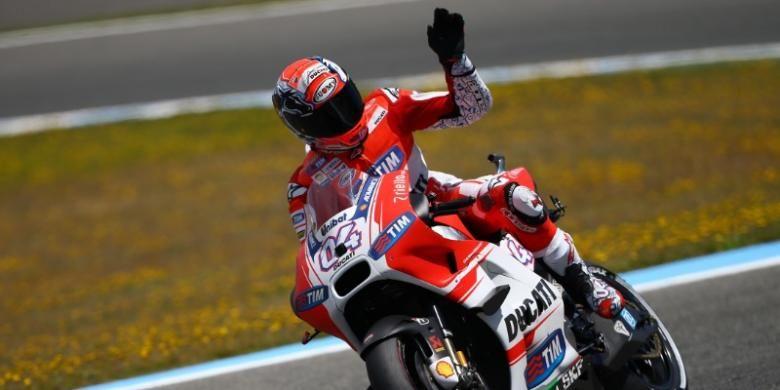 Pebalap Ducati asal Italia, Andrea Dovizioso.