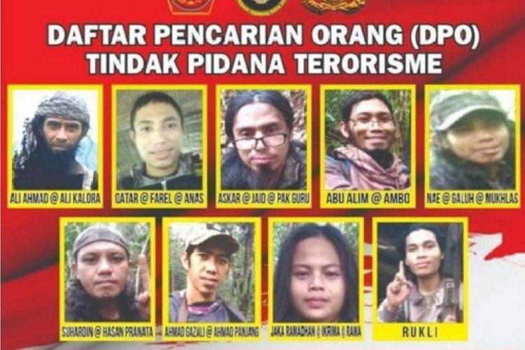 Foto//Baliho DPO Teroris Poso