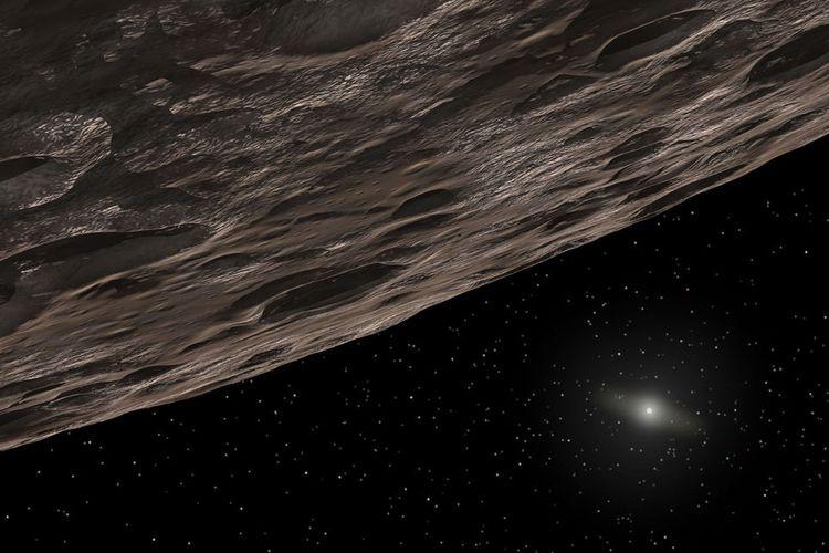 Ilustrasi 2014 UN271 dekat Neptunus.
