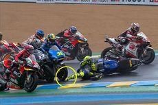 Crash pada MotoGP Perancis, Kaki Rossi Nyaris Terlindas Motor Joan Mir