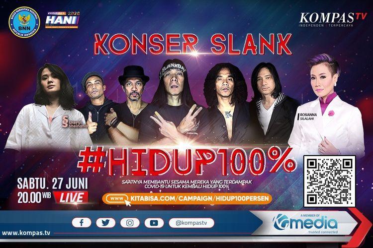 BNN bersama KompasTV bakal gelar konser amal virtual sambut Hari Anti Narkotika Internasional bertajuk #HIDUP100%