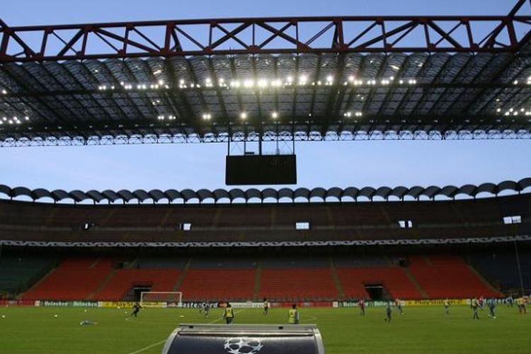 Stadion San Siro (Giuseppe Meazza) di Milan, Italia, menjadi tempat penyelenggaraan laga final Liga Champions 2016.