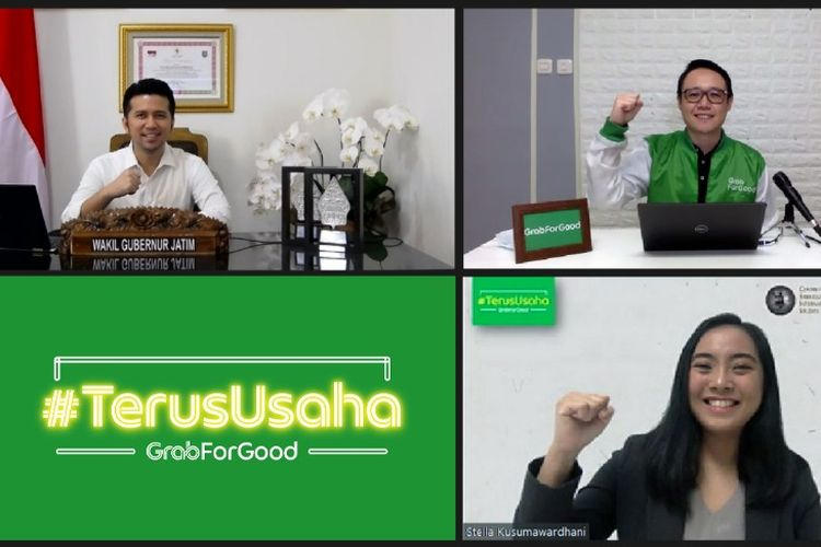 Program #TerusUsaha milik Grab diluncurkan di Jawa Timur, Selasa (18/8/2020).