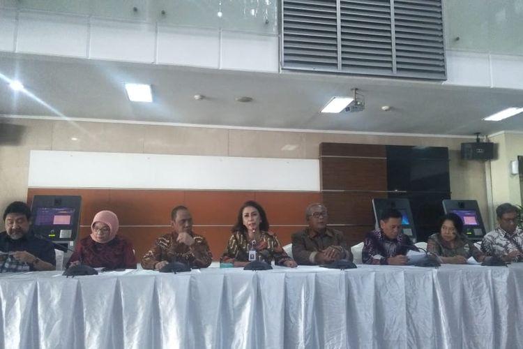 Pansel KPK menggelar konferensi pers di kantor Kemensetneg, Jakarta Pusat, Jumat (23/8/2019).