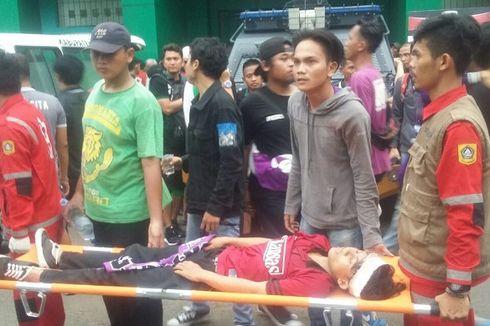 Laga Persita Vs PSMS Medan Diwarnai Kericuhan Antarsuporter