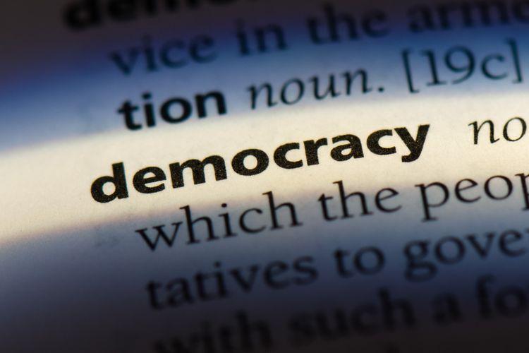 Ilustrasi demokrasi.