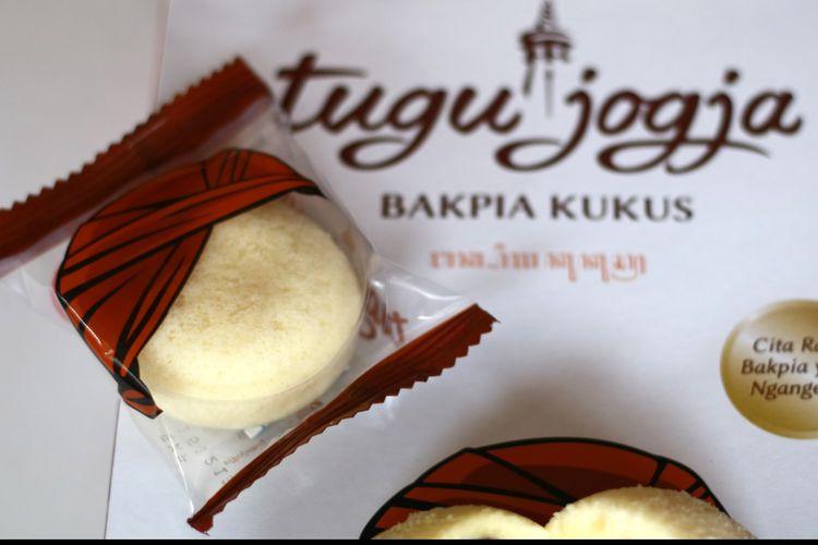 Ilustrasi bakpia kukus khas Yogyakarta.