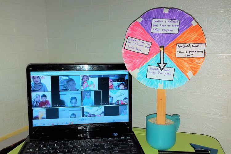 Cakram literasi (Cakli) digunakan siswa SDN 131 Kota Jambi untuk memperkuat daya ingat bahasa anak-anak. Media ini digunakan pada saat pembelajaran daring.