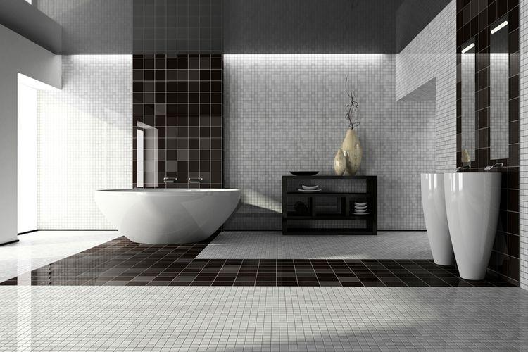 Ilustrasi dinding kamar mandi.