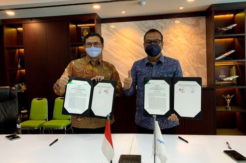 GMF dan AP I Teken MoU Kembangkan Hanggar Pesawat di Makassar